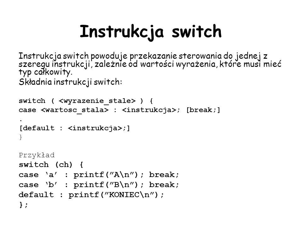 Instrukcja switch
