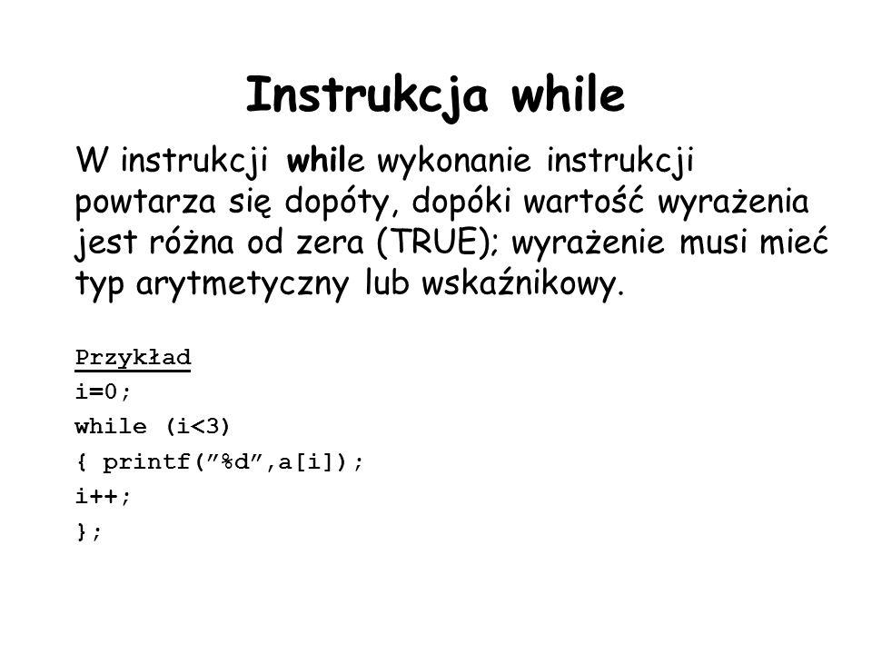 Instrukcja while