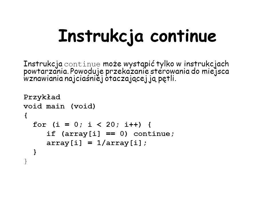Instrukcja continue
