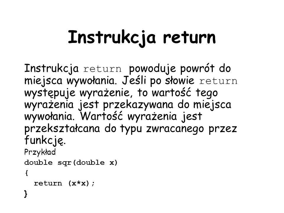 Instrukcja return