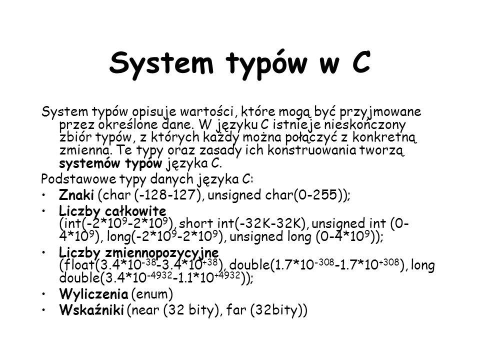 System typów w C