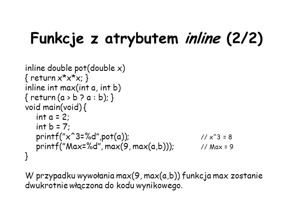 Funkcje z atrybutem inline (2/2)