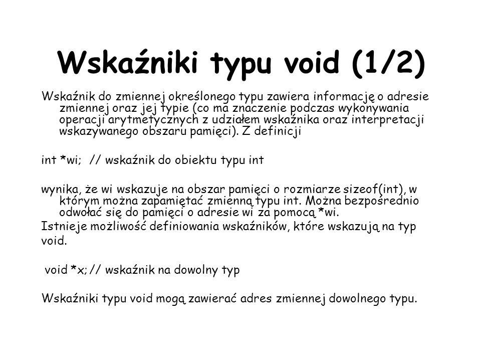 Wskaźniki typu void (1/2)