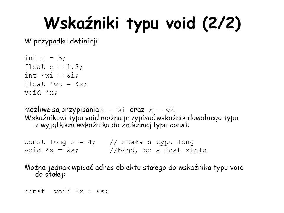 Wskaźniki typu void (2/2)