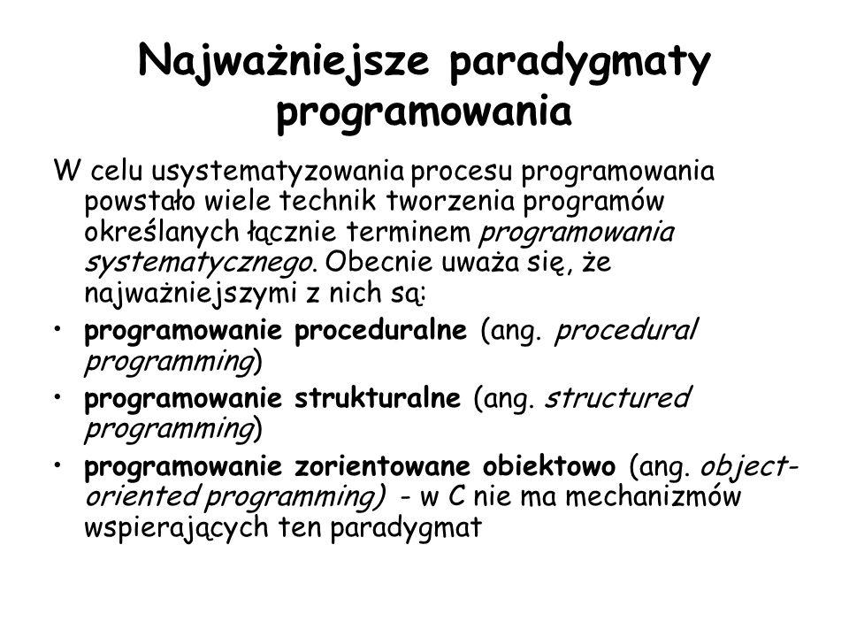 Najważniejsze paradygmaty programowania