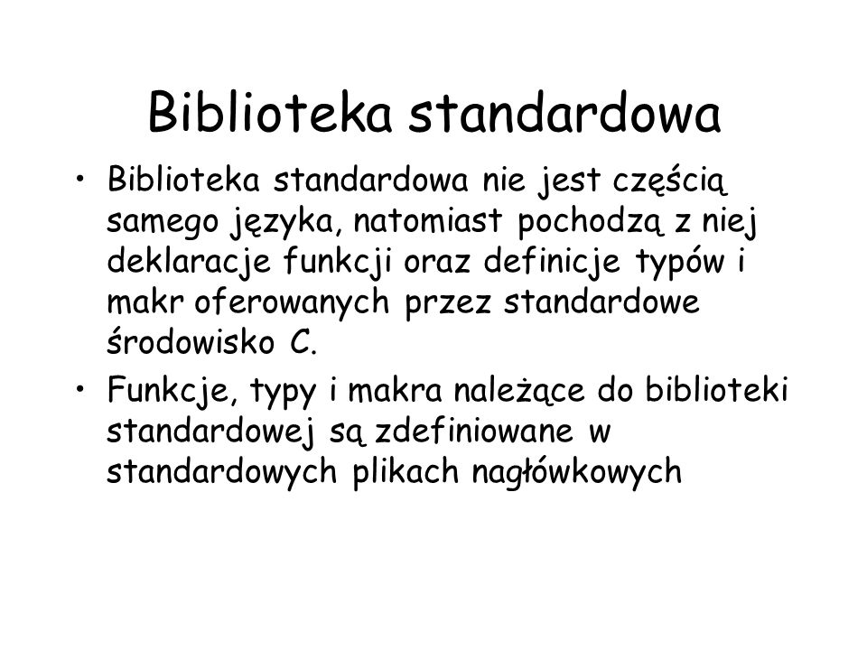 Biblioteka standardowa