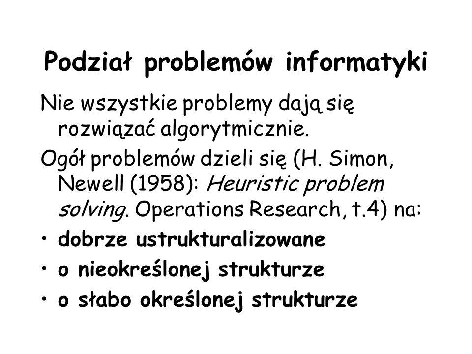 Podział problemów informatyki