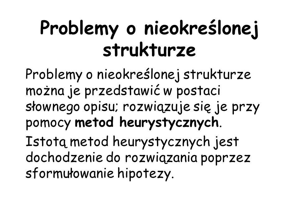 Problemy o nieokreślonej strukturze