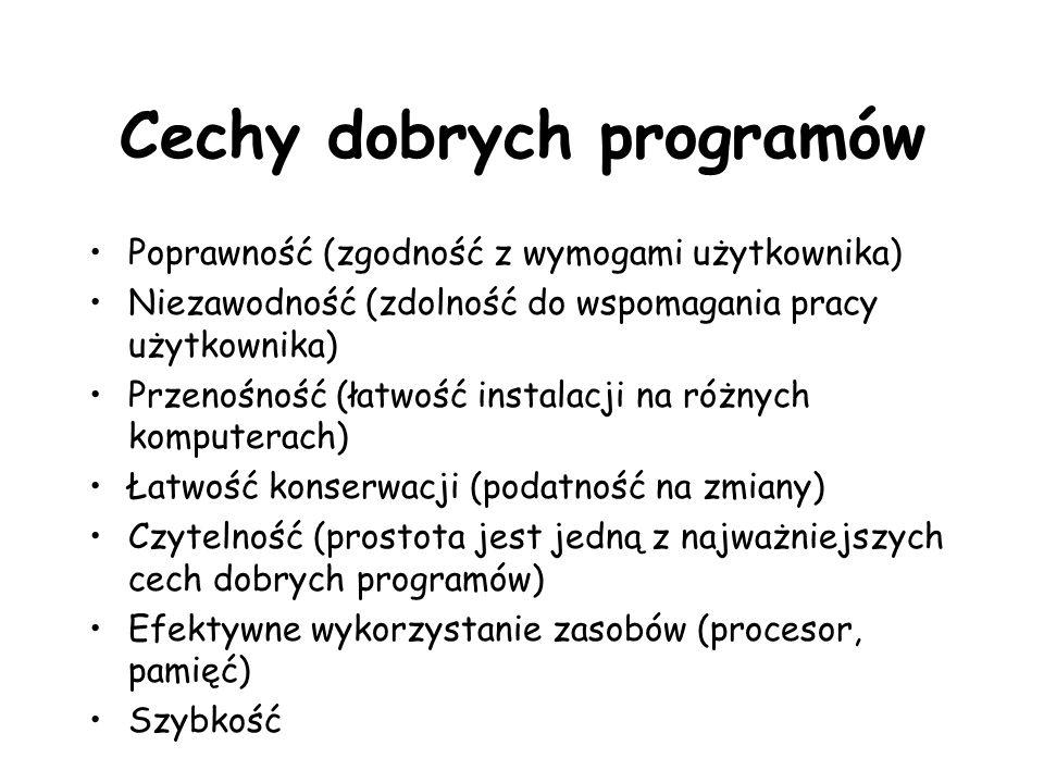 Cechy dobrych programów