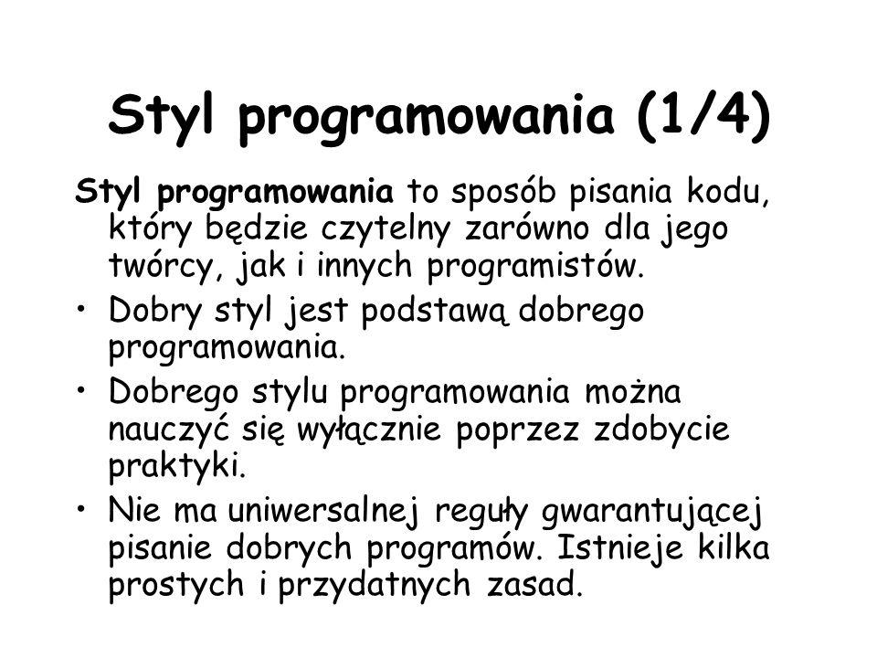 Styl programowania (1/4)