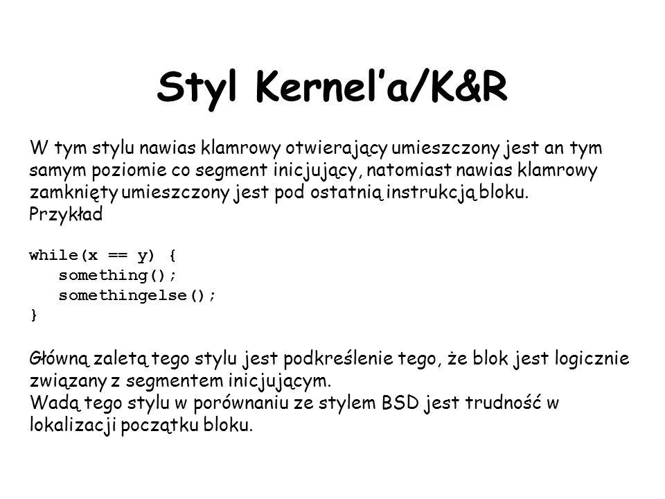 Styl Kernel'a/K&R
