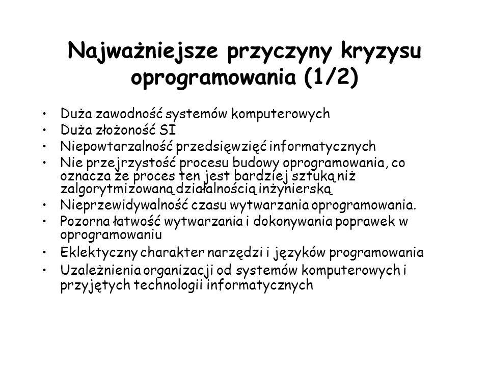 Najważniejsze przyczyny kryzysu oprogramowania (1/2)