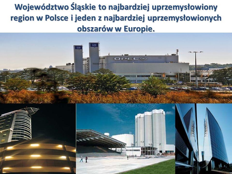 Województwo Śląskie to najbardziej uprzemysłowiony region w Polsce i jeden z najbardziej uprzemysłowionych obszarów w Europie.