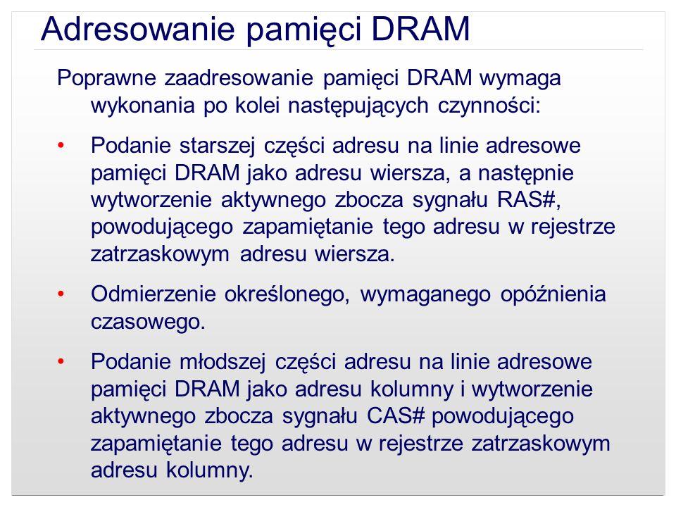 Adresowanie pamięci DRAM