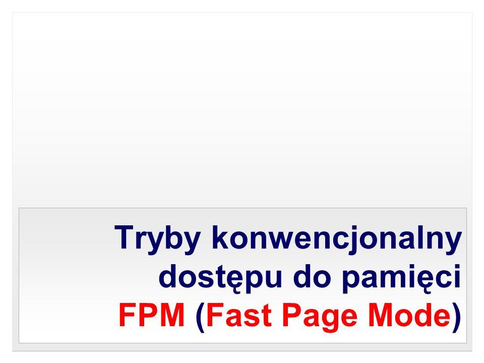 Tryby konwencjonalny dostępu do pamięci FPM (Fast Page Mode)