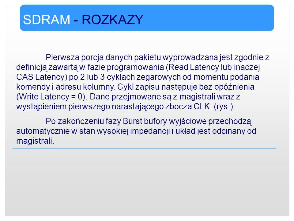 SDRAM - ROZKAZY