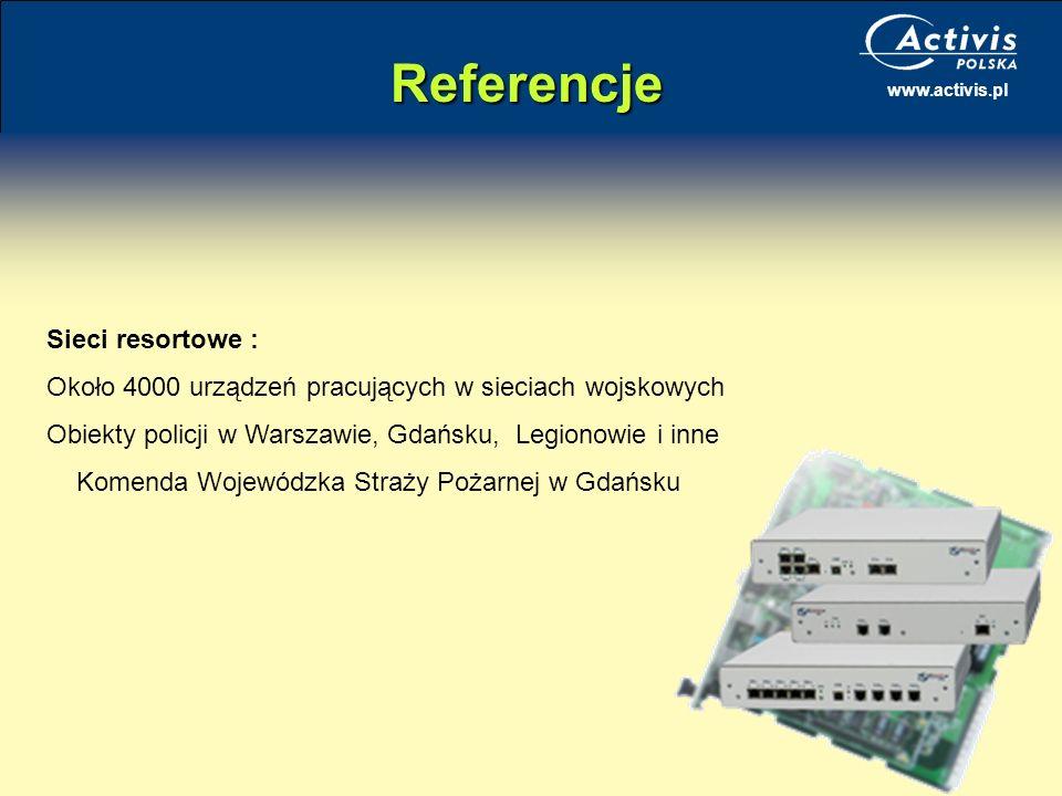 Referencje Sieci resortowe :