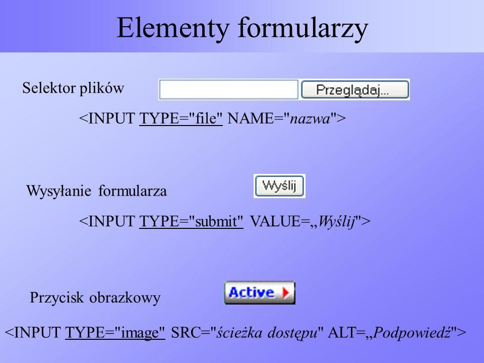 Elementy formularzy Selektor plików