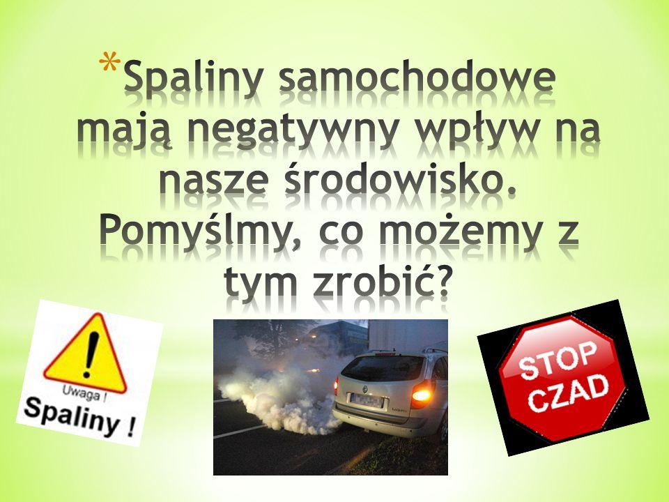 Spaliny samochodowe mają negatywny wpływ na nasze środowisko