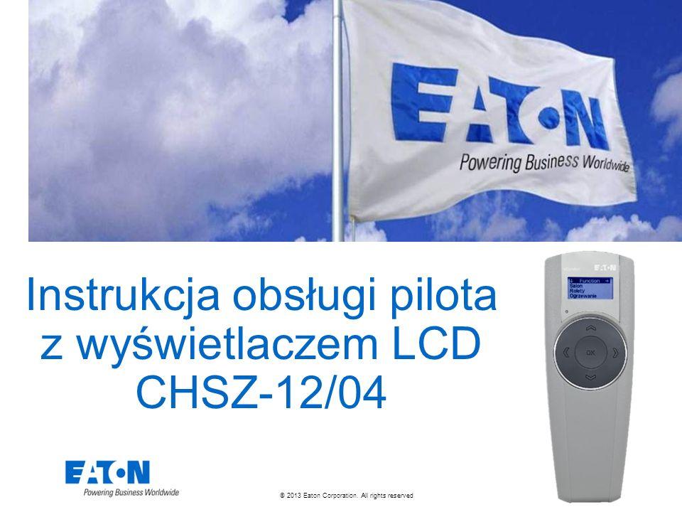 Instrukcja obsługi pilota z wyświetlaczem LCD CHSZ-12/04