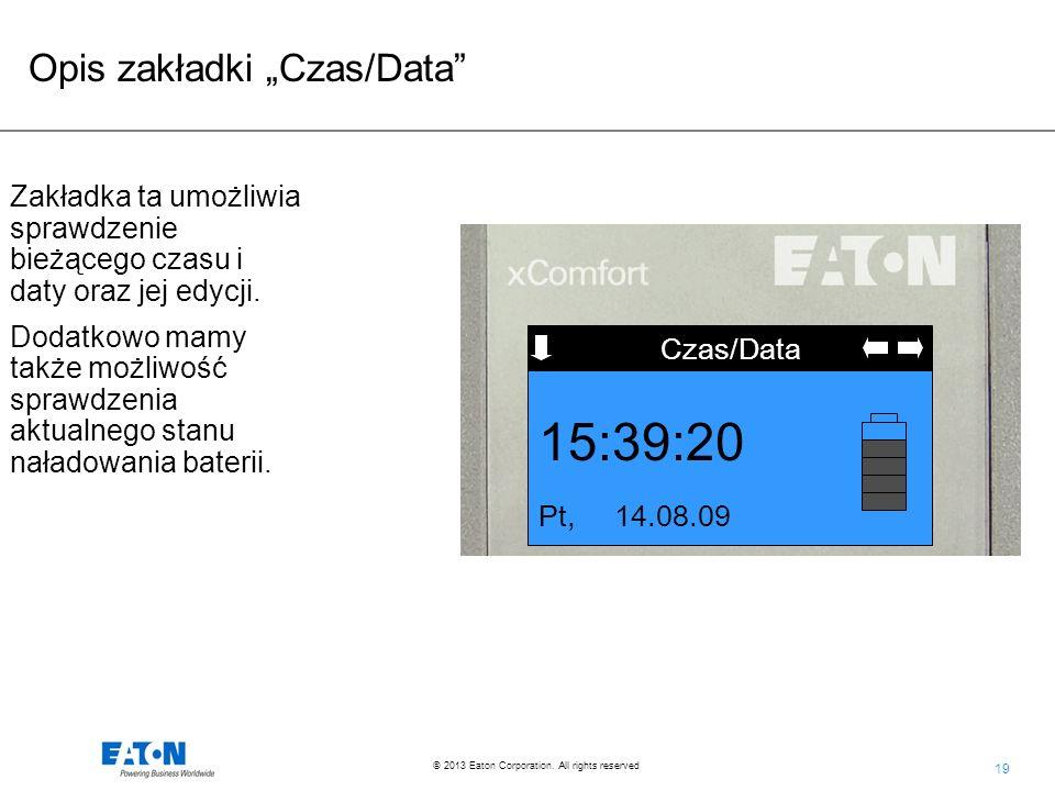 "15:39:20 Opis zakładki ""Czas/Data"