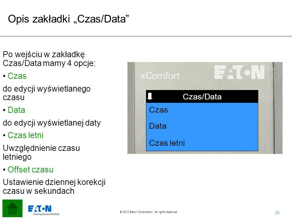 "Opis zakładki ""Czas/Data"