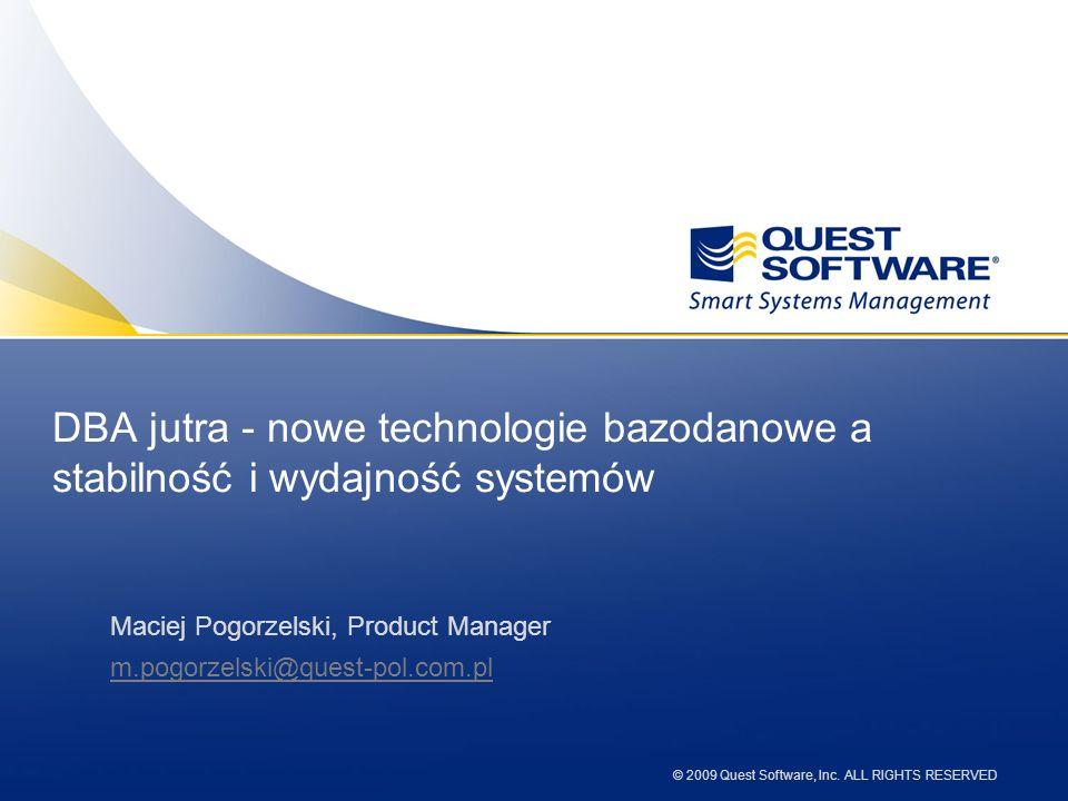 DBA jutra - nowe technologie bazodanowe a stabilność i wydajność systemów