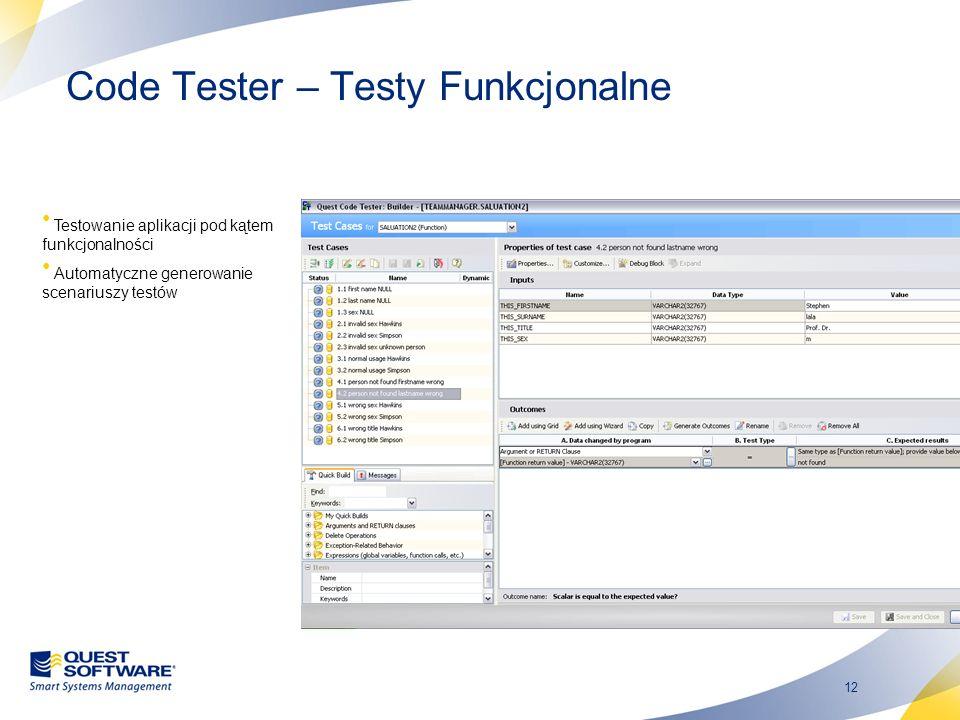 Code Tester – Testy Funkcjonalne