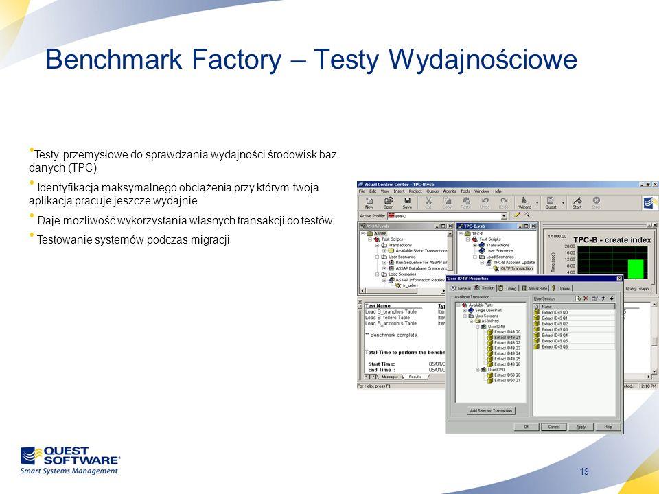 Benchmark Factory – Testy Wydajnościowe