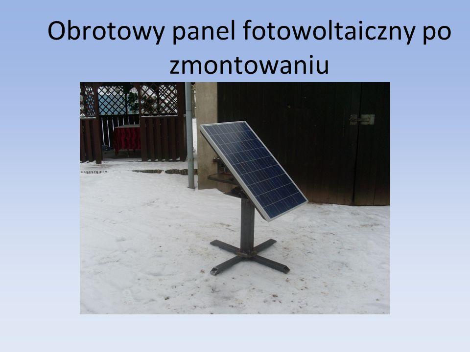 Obrotowy panel fotowoltaiczny po zmontowaniu