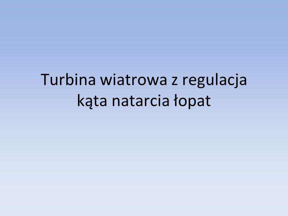 Turbina wiatrowa z regulacja kąta natarcia łopat
