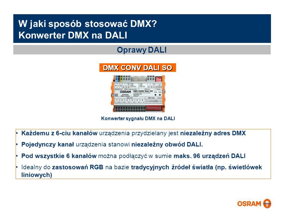W jaki sposób stosować DMX Konwerter DMX na DALI