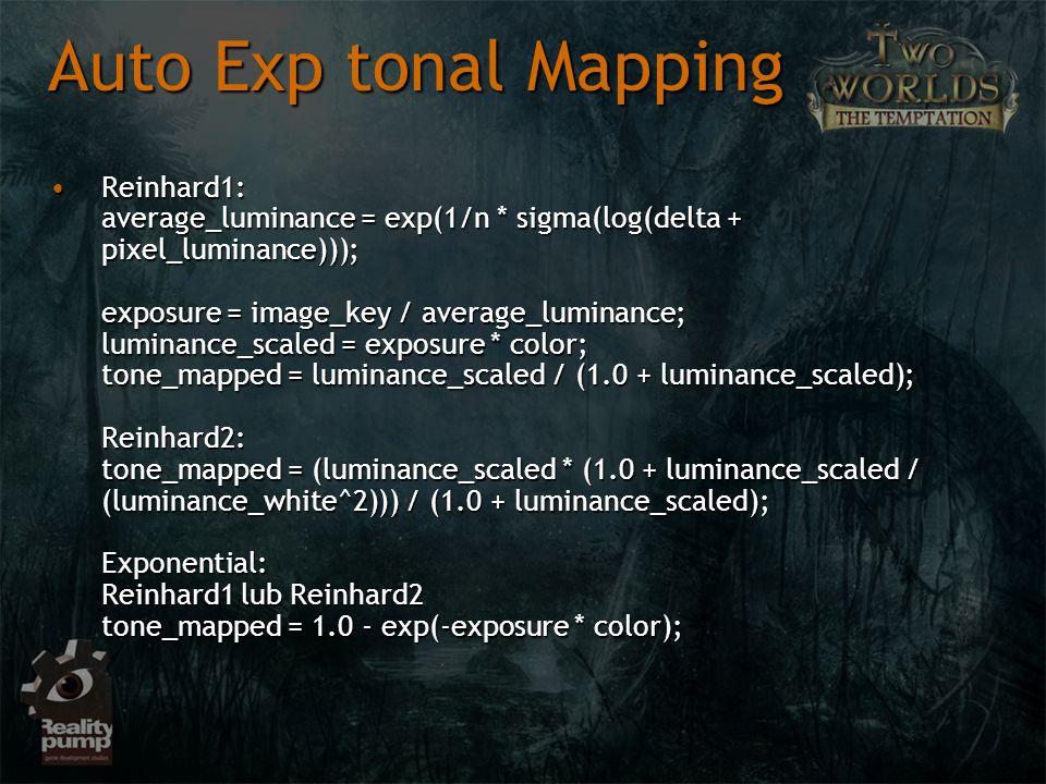 Auto Exp tonal Mapping