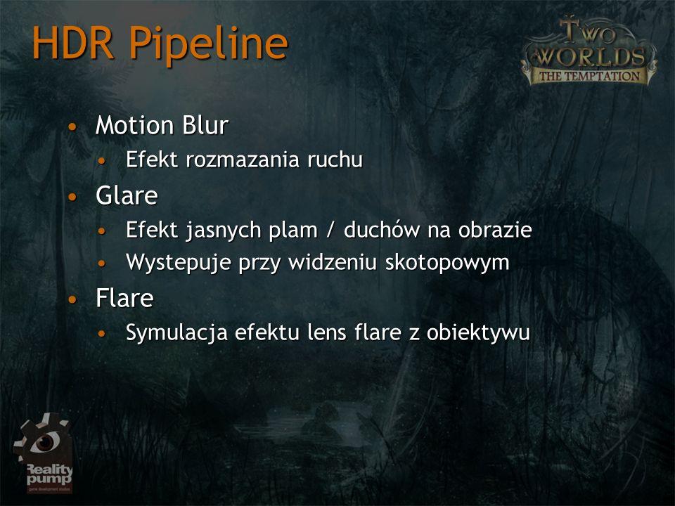 HDR Pipeline Motion Blur Glare Flare Efekt rozmazania ruchu