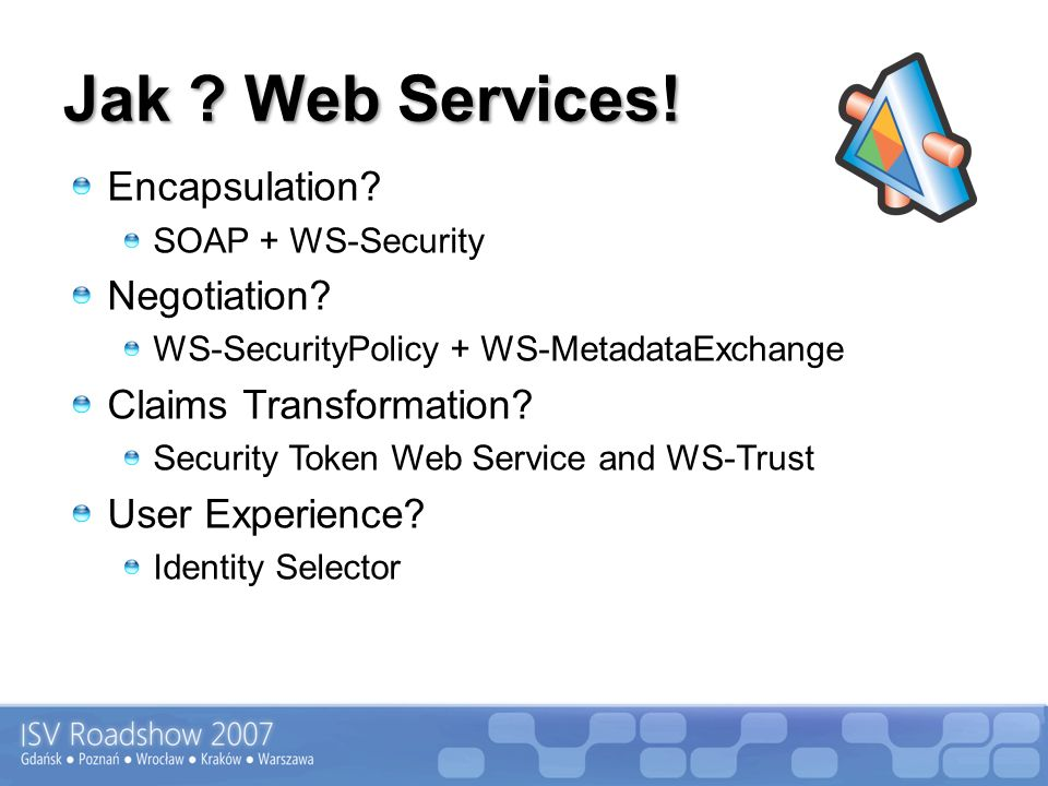 Jak Web Services! Encapsulation Negotiation Claims Transformation