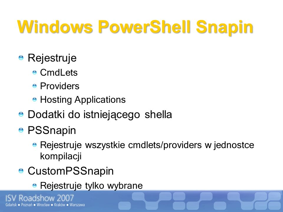 Windows PowerShell Snapin