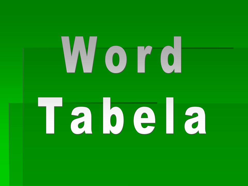 Word Tabela