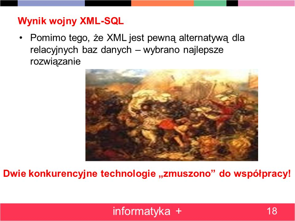 informatyka + Wynik wojny XML-SQL