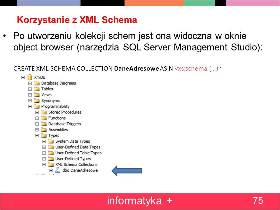 Korzystanie z XML Schema