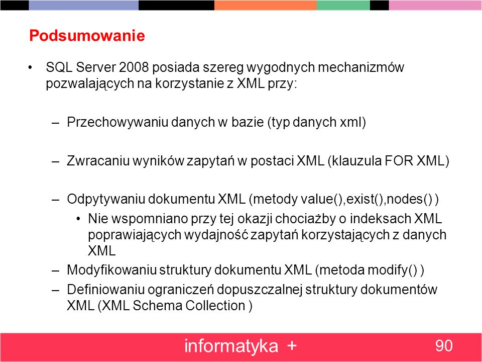 informatyka + Podsumowanie 90