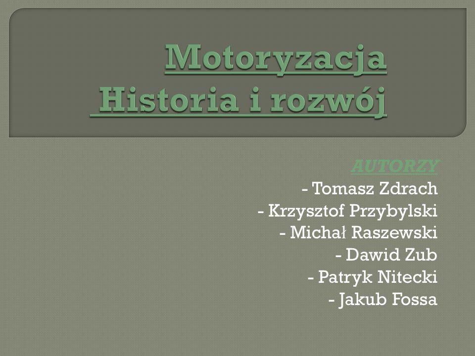Motoryzacja Historia i rozwój