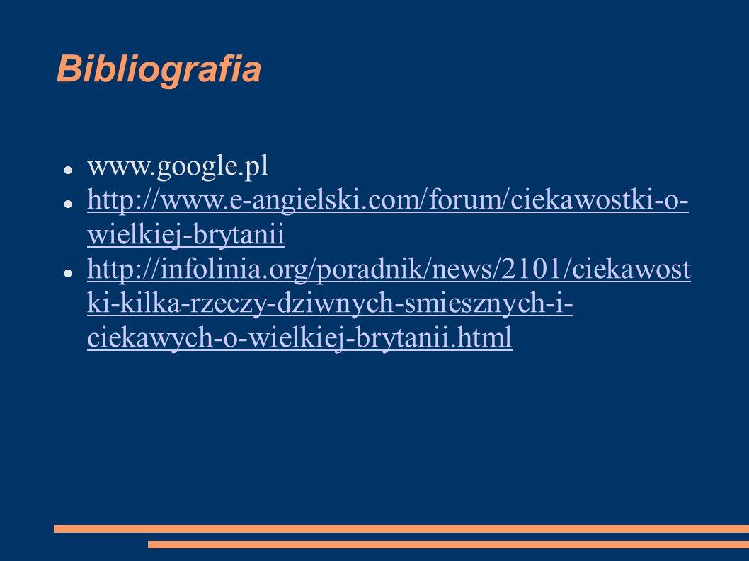 Bibliografia www.google.pl