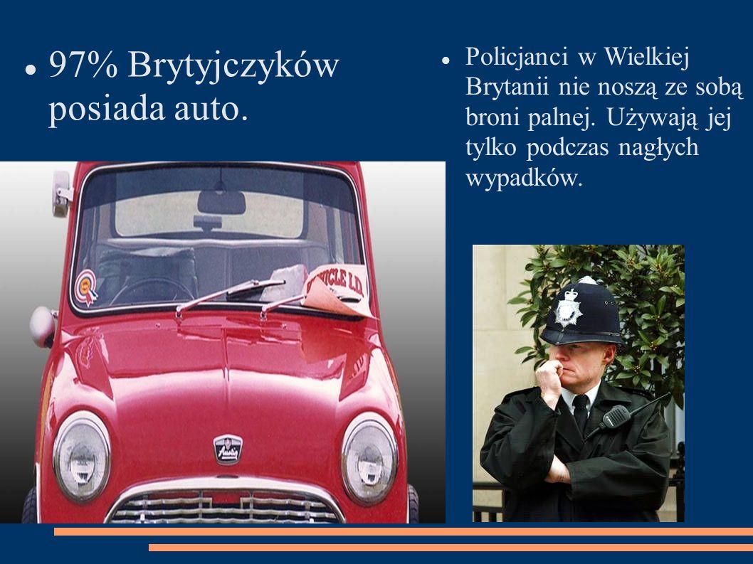 97% Brytyjczyków posiada auto.