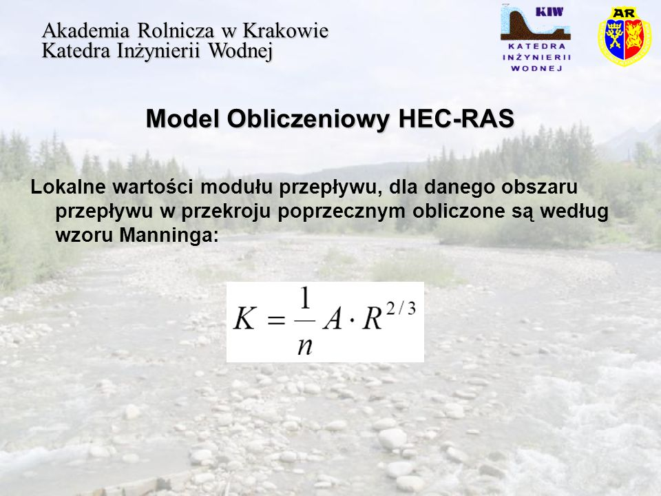 Model Obliczeniowy HEC-RAS