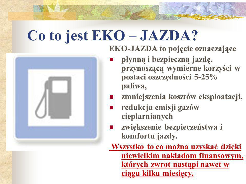 Co to jest EKO – JAZDA EKO-JAZDA to pojęcie oznaczające