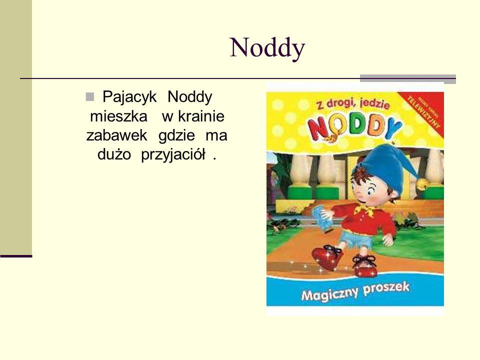 Pajacyk Noddy mieszka w krainie zabawek gdzie ma dużo przyjaciół .