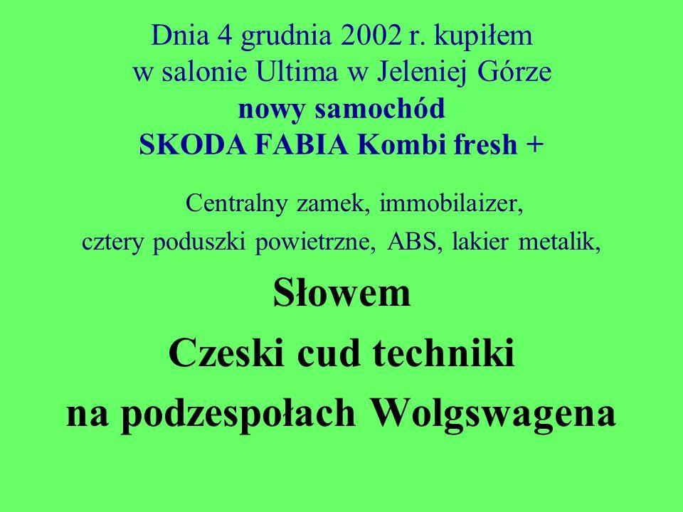 na podzespołach Wolgswagena