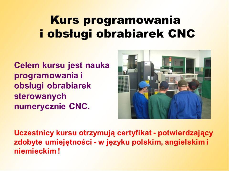 i obsługi obrabiarek CNC