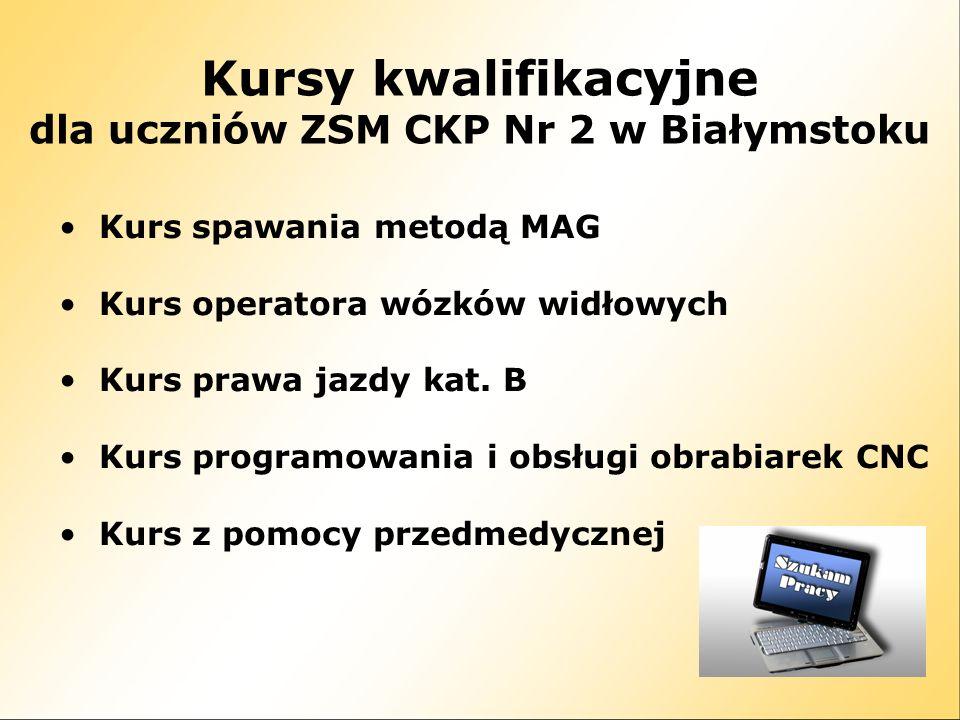 dla uczniów ZSM CKP Nr 2 w Białymstoku