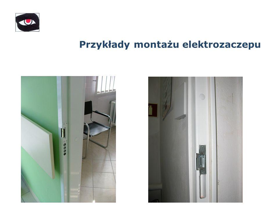 Przykłady montażu elektrozaczepu